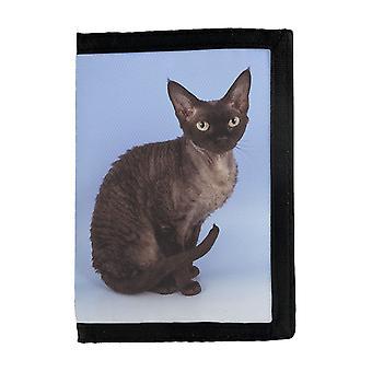 Cat Devon Rex Portofel