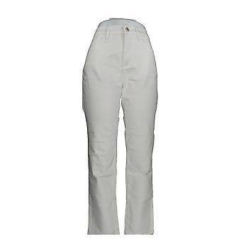 Denim & Co. Damen's Jeans Classic Denim Distressed Skinny White A304475 #1