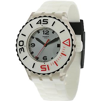 Swatch SUUK401  Male White Rubber 44MM Quartz Analog Watch