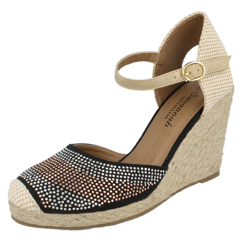 Savannah Womens/Ladies Bead Detail Wedge Sandals