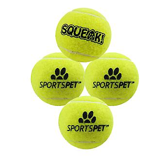 Sportspet Mini Tennis Ball With Squeaker (Pack Of 4)