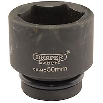 Draper 5125 Expert 50mm emmanchement carré 1 Salut-Torq Point 6 Impact Socket
