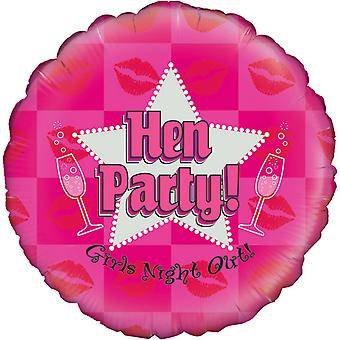 Oaktree 18 Inch Holographic Hen Party Balloon