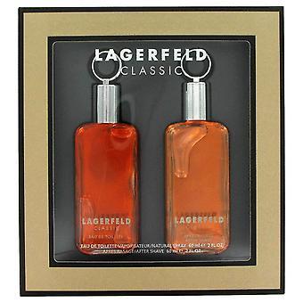 Lagerfeld Gift Set By Karl Lagerfeld 2 oz Eau De Toilette Spray + 2 oz After Shave