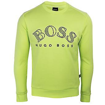 Hugo boss salbo men's fluorescent green sweatshirt