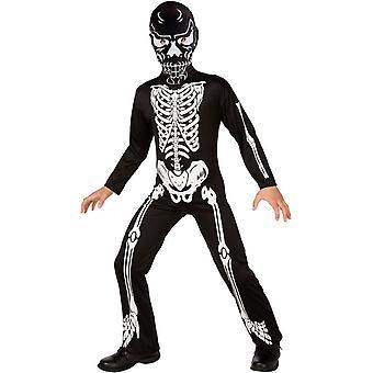 Onda skelett barn kostym