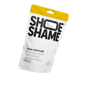 Shoe Shame Unisex Wipe And Walk Cleaning Wipes 10 Pcs