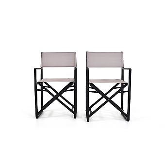 Alu Silla Hollywood, 2 piezas - antracita