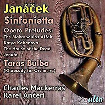 Janacek Sinfonietta Opera Preludes Taras Bulba [CD] USA import