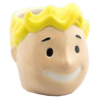 Fallout 4 Mug Vault Boy 3D Head new Official  PS4 Gamer Boxed