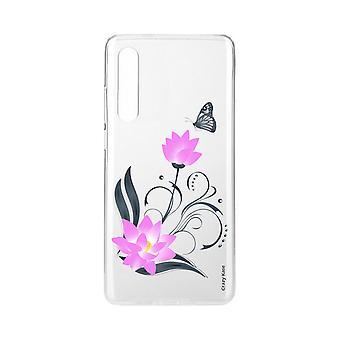 Schale für Xiaomi Mi 9 Se Weich Lotus Blume Und Schmetterling