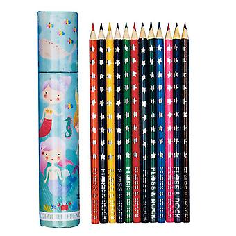 Mermaid theme colouring pencil set