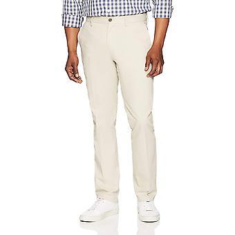 Essentials Men's Slim-Fit Wrinkle-Resistant, Stone, Size 29W x 32L