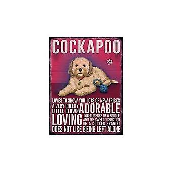 Cockapoo Hanging Metal Sign