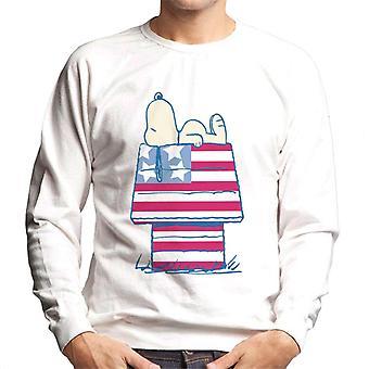 Peanuts Snoopy Patriotic Kennel Men's Sweatshirt