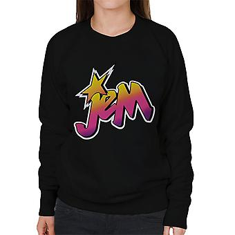 Jem And The Holograms Classic Faded Logo Women's Sweatshirt
