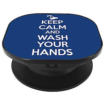 Keep Calm And Wash Your Hands Phone Grip