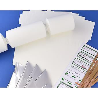 Único Jumbo Smooth White Make & Fill Your Own Reciclable Christmas Cracker Kit