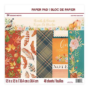 Craft Smith Hearth & Harvest 12x12 Inch Paper Pad