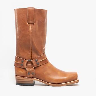 Sendra 7410 Mens Leather Biker Boots Tan
