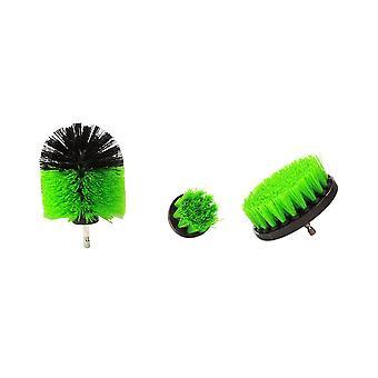 3 stycken som 2/3.5/4 tum All Purpose Drill Brush (Grön)