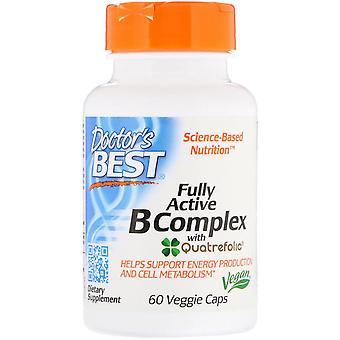 Doctor's Best, Fully Active B Complex met Quatrefolic, 60 Veggie Caps