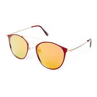 Sonnenbrille Unisex    rot/gold (18-109)