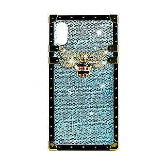 Phone Case Eye-Trunk Bee GG For iPhone X (Blue)