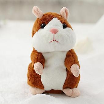 Electronic Repeated Talking Hamster Speaking Plush Animals Toys Boys Baby Tiara