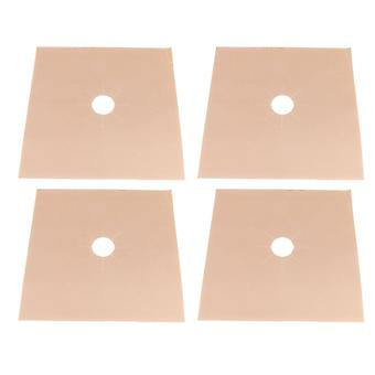 4Pcs Brown Gas Range Stove Top Burner Protector Liner Clean Mat 270x0.2mm