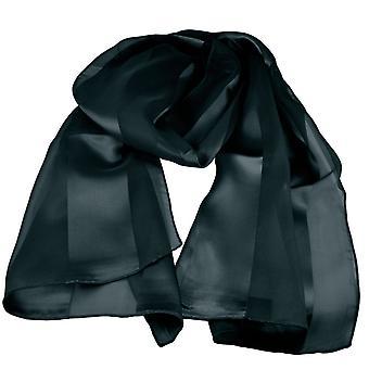 Krawatten Planet schwarz Satin Selbst-Streifen Schal