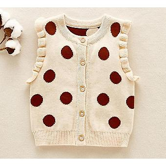Sodawn Baby Girls Vest Autumn Casual Tops Pullover Sweate Dot Print
