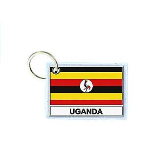 Porte cles cle clefs imprime double face drapeau EAU ouganda