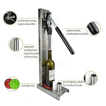 Manual Bottle Corking Machine Home Brew Wine Bottle Cap Pressing Machine 2 Stainless Steel Heads