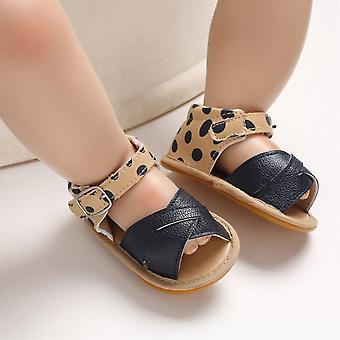 נעלי תינוק לקיץ בגדי ריקוד ילדים,,, Prewalker עור שזה עתה נולד עור רך סוליה