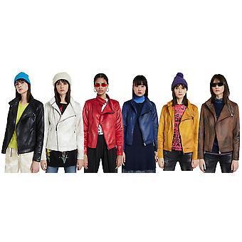 Desigual Sven Искусственная кожа Байкер куртка 6 цветов 20WWEWAN