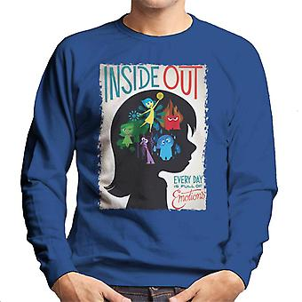 Pixar Inside Out Every Day Is Full Of Emotions Men's Sweatshirt