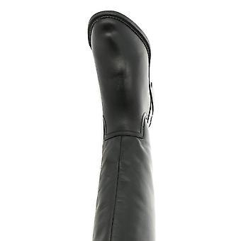 Franco Sarto Women's Shoes henrietta Leather Almond Toe Knee High Fashion Boots
