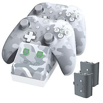 Twin docking station with 2 x rechargeable battery packs - arctic camo (xbox one)