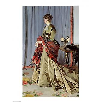 صورة لطباعة ملصق مدام لويس يواكيم جوديبيرت عام 1868 قبل كلود مونيه