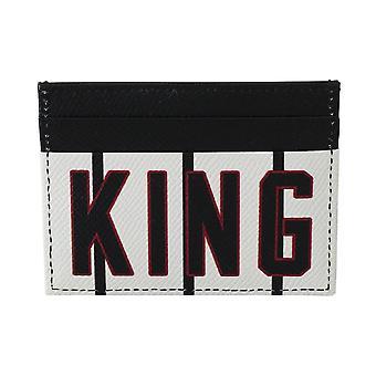 Schwarz weiß König Krone Leder Herren Karteninhaber Brieftasche