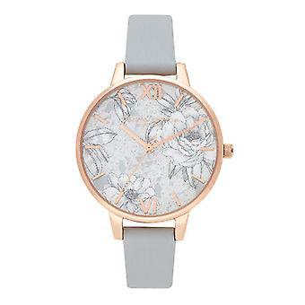 Olivia Burton Ob16tz01 Terrazzo Florals Eco Light Grey & Rose Gold Ladies Watch