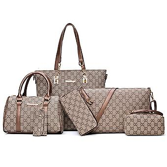 Conjunto de tote de mujer, cuero Pu de moda, bolso de señora, hombro mensajero imprimir