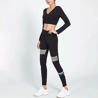 Dames slim Yoga Long Sleeve Fitness Sports Suit YJ020