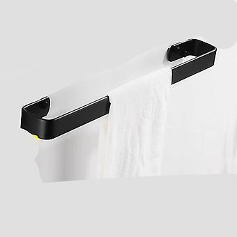 Black Towel Rack Hanging Holder Washroom, Bathroom Towel Aluminum Creative