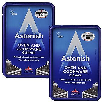 2 x 150g Astonish Ofen Kochgeschirr Grime Fettreiniger Paste Hob Küche Arbeitstops