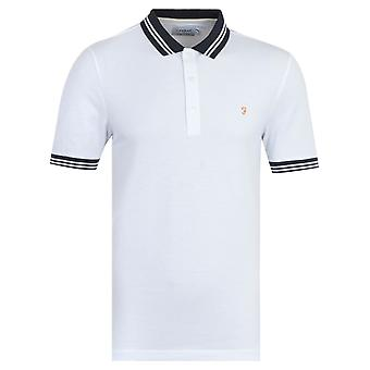 Farah Stanton Organic Cotton Polo Shirt - White