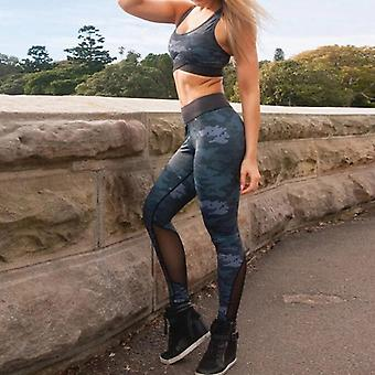 Naadloze High Waist Woman Sportswear Set, Sexy Leggings Gedrukte Vrouwen Fitness