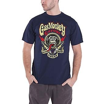 Gas Monkey Garage T Shirt Spark Plugs GMG Logo new Official Mens Navy