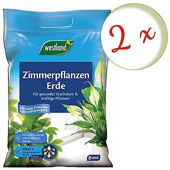 Sparset: 2 x WESTLAND® Zimmerpflanzen Erde, 8 Liter